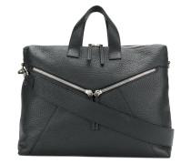 zip detail messenger bag