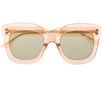 Transparente Oversized-Sonnenbrille