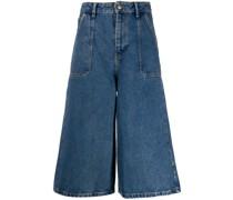 Ausgestellte Jeans-Culottes
