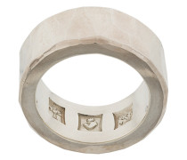 embossed and engraved ring