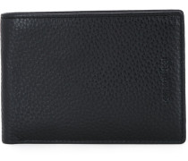 embossed logo wallet - men - Kalbsleder
