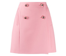 double-breasted A-line skirt