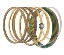 Vergoldetes 'Elegua' Set mit Armbändern