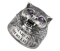' Garden' Ring mit Felinekopf