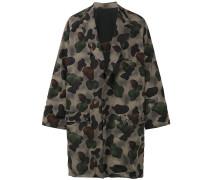 Oversized-Wollmantel mit Camouflage-Print
