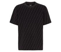 T-Shirt mit geflocktem FF