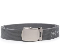 logo embroidered belt