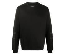 Sweatshirt mit Ledereinsätzen