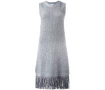 Ärmelloses Kleid mit Fransensaum