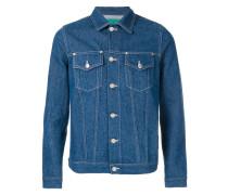 Jeansjacke mit Kontrastnaht