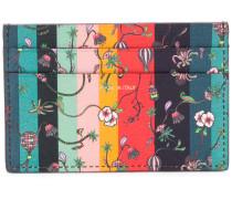 floral print striped cardholder
