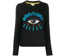 'Eye' Sweatshirt mit Stickerei