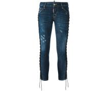 'Deana' Jeans mit Schnürungen