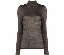 Lurex-Pullover mit Rollkragen