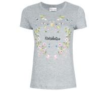 floral logo print T-shirt
