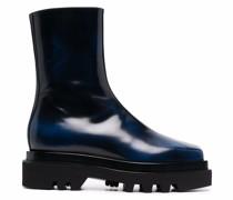 squared-toe combat boots