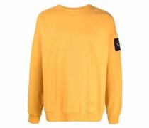 logo-patch cotton jumper