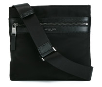 zipped messenger bag