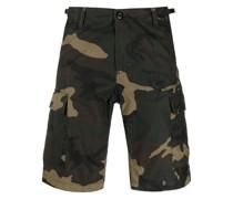 Aviation Cargo-Shorts mit Camouflage-Print