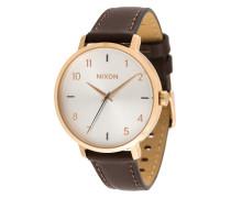 'Arrow' Armbanduhr mit Lederband