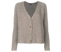 button-down knitted cardigan