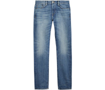 Straight Fit Washed Japanese Selvedge Denim Jeans