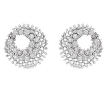 18kt Weißgoldohrringe mit Diamanten