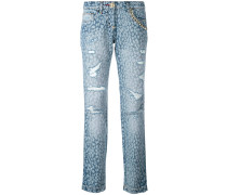 Jeans mit Animal-Print