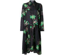 Seidenhemdkleid mit Blumen-Print
