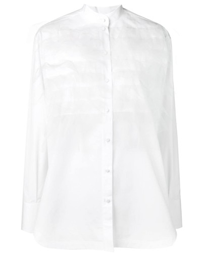 Hemd mit Tüllbesatz