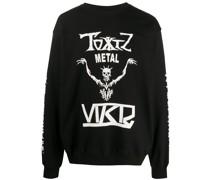 Sweatshirt mit Skelett-Print