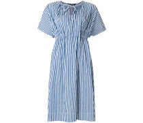 striped tie-neck detail dress