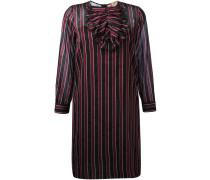 Gestreiftes Kleid mit langen Ärmeln