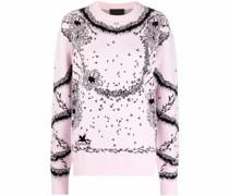Pullover mit floralem Intarsien-Motiv