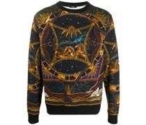 Sweatshirt mit Tierkreis-Print