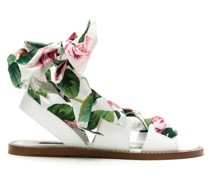 "Sandalen mit ""Tropical Rose""-Schnürung"
