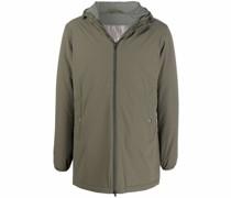 zip-fastening hooded jacket