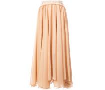 long fluted skirt
