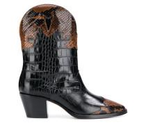 Cowboy-Stiefel mit Kroko-Effekt
