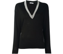 bead embellished v-neck jumper