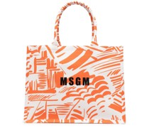 Handtasche mit abstraktem Print