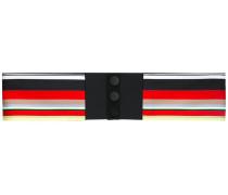 striped button belt - women - Seide/Polyester