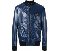 glossy bomber jacket