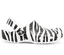 Sandalen mit Zebra-Print