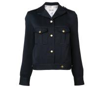 Cropped-Jacke mit Schulterklappen