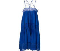 Kleid mit überkreuzten Trägern