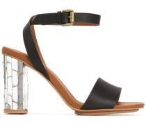 - Sandalen mit Metallic-Absatz - women