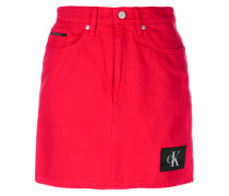 logo patch fitted skirt