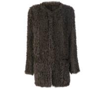 Shearling-Jacke ohne Kragen