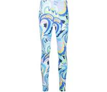 abstract-print leggings